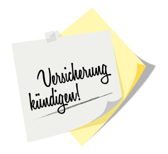 Post it | Notizzettel | Versicherung kndigen!
